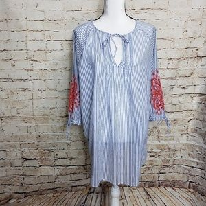 J crew embroidered tunic
